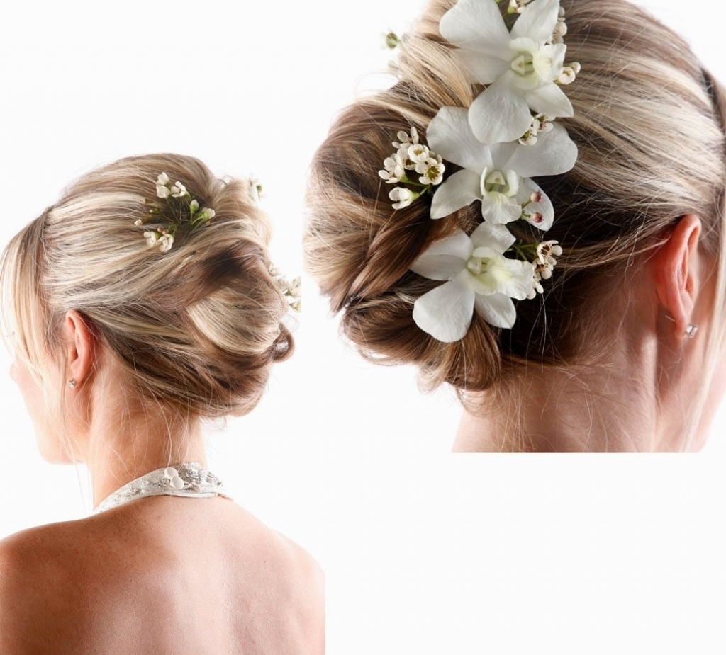 Wedding Updo With Flowers Wedding Updos Hairstyles With Flowers Throughout Updo Hairstyles With Flowers (View 15 of 15)
