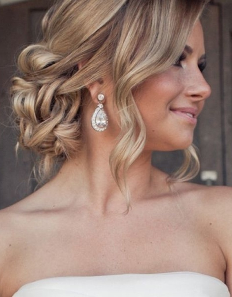 Women Loose Bun Hairstyles Best High Ideas On 20+ Inspirations Stock Intended For Low Bun Updo Hairstyles For Wedding (View 15 of 15)