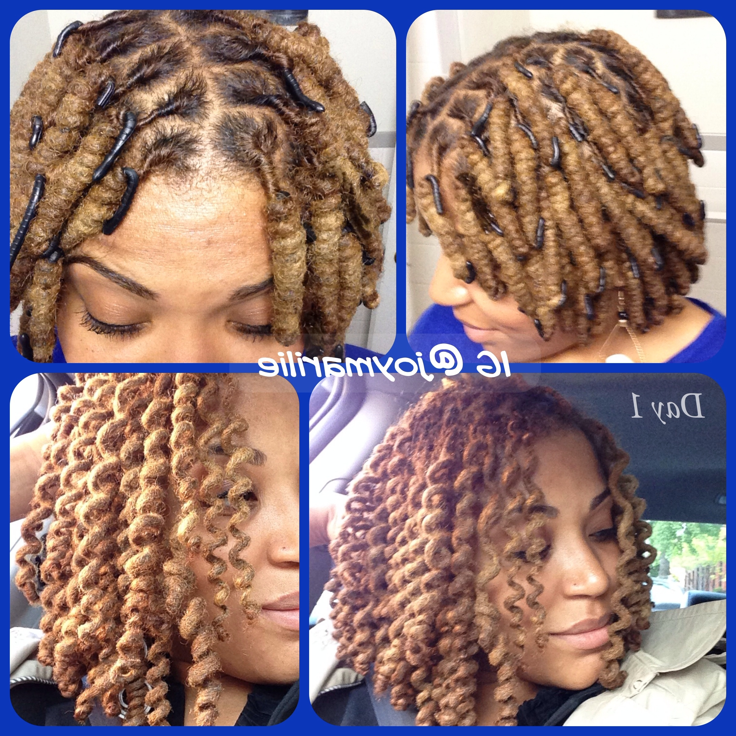 Wrap A Loc Curls. Day One (View 15 of 15)