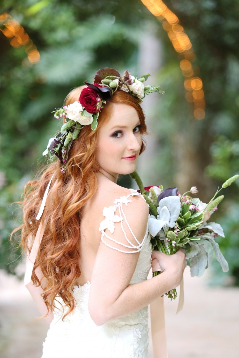 10 Wedding Hairstyles For Long Hair You'll Def Want To Steal For Trendy Wedding Hairstyles For Long Hair With Flowers (View 12 of 15)