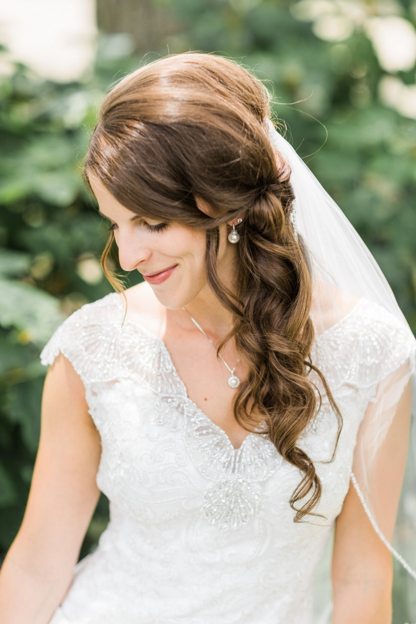 10 Wedding Hairstyles For Long Hair You'll Def Want To Steal Pertaining To Current Over One Shoulder Wedding Hairstyles (View 4 of 15)