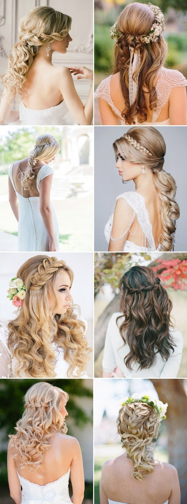 100+ Romantic Long Wedding Hairstyles 2018 – Curls, Half Up, Updos Inside Famous Wedding Hairstyles For Long Hair Half Up With Veil (View 1 of 15)