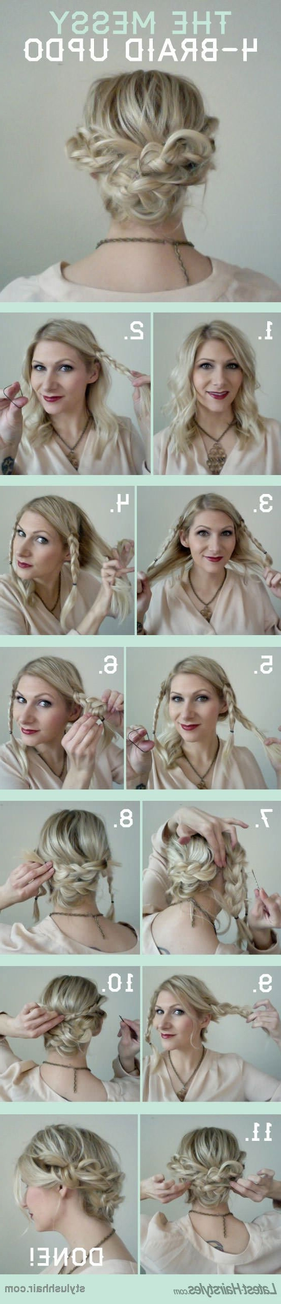 15 Cute And Easy Hairstyle Tutorials For Medium Length Hair – Gurl In Most Recent Easy Wedding Hairstyles For Shoulder Length Hair (View 3 of 15)