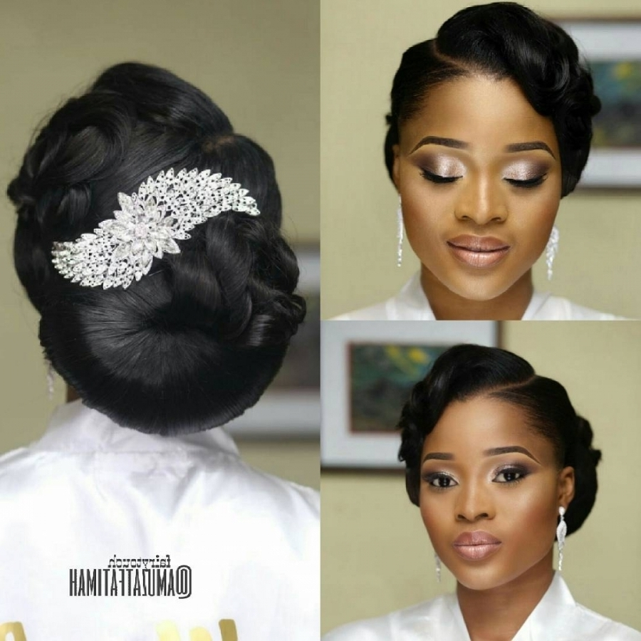 16 Gorgeous Wedding Hairstyles For Nigerian Brideshair Stylist With With Regard To Recent Nigerian Wedding Hairstyles For Bridesmaids (View 2 of 15)