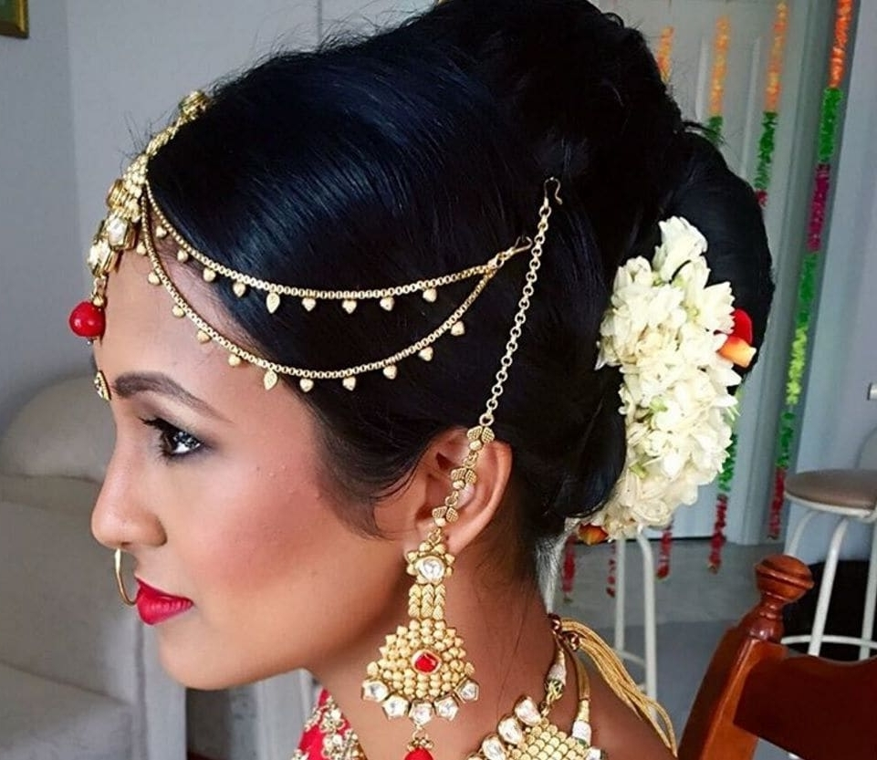 Bun hairstyle for indian wedding-9636