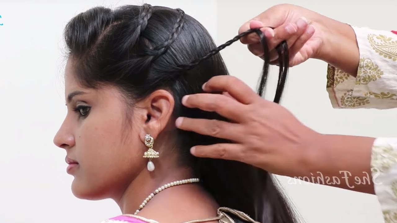 2 Quick Simple & Easy Indian Braid Hairstyles For Saree (View 9 of 15)