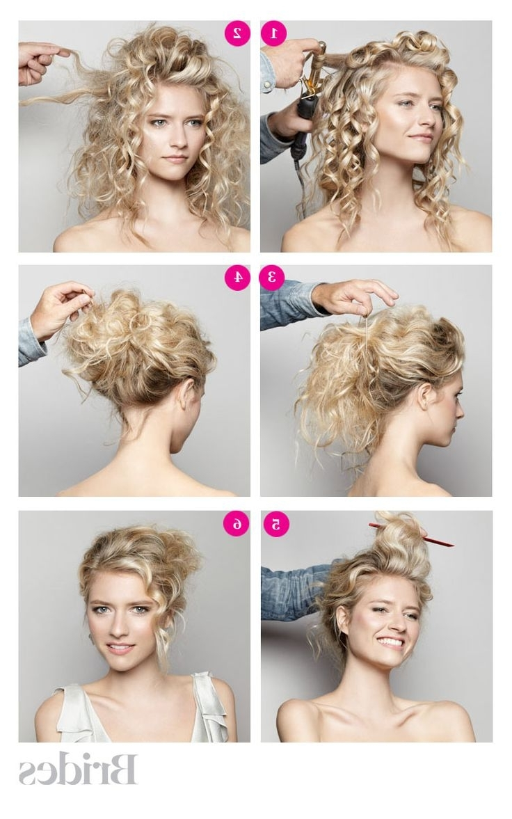 2017 Diy Simple Wedding Hairstyles For Long Hair In Wedding Hairstyles Tulle Chantilly Best Bridal Diy At Home (Gallery 10 of 15)