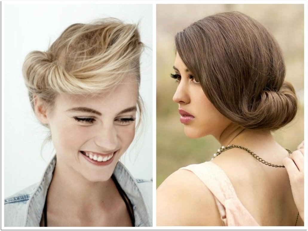 2017 Indian Wedding Hairstyles For Medium Length Hair Throughout Indian Wedding Hairstyle Medium Length Hair : Streetbass (View 7 of 15)