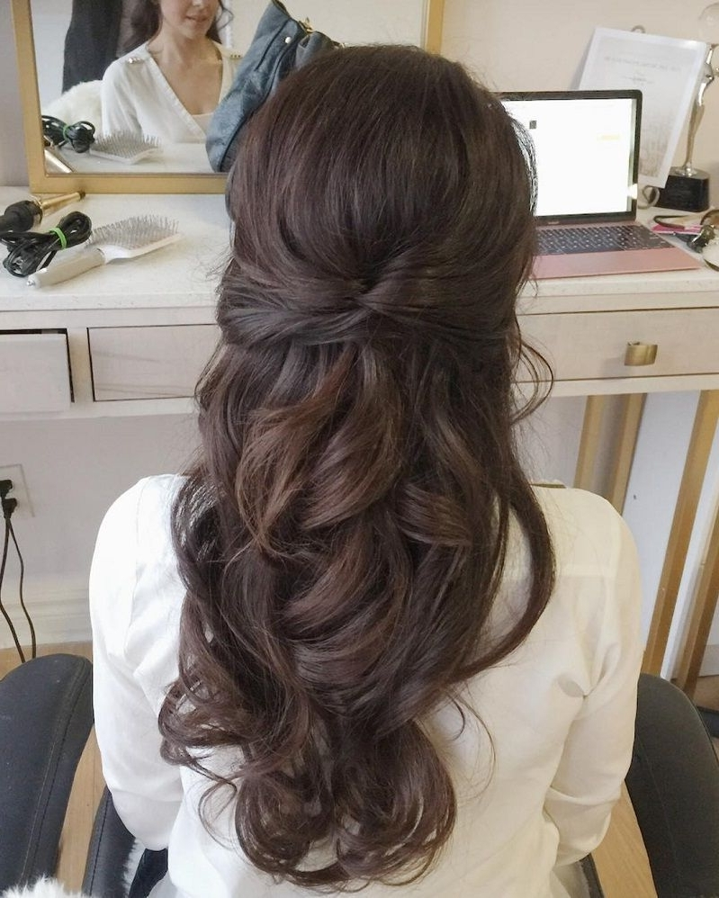 Photo Gallery Of Partial Updo Wedding Hairstyles Viewing 8 Of 15