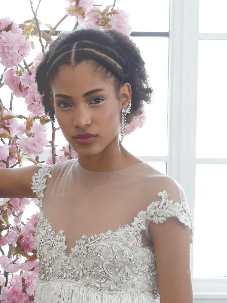 2017 Pulled Back Wedding Hairstyles Inside The Prettiest Hair Inspo From The Runway (View 1 of 15)