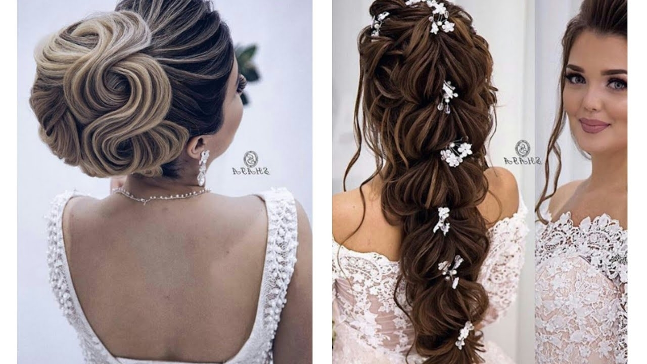 2017 Romantic Wedding Hairstyles In Romantic Wedding Hairstyles 2018 – Youtube (View 8 of 15)