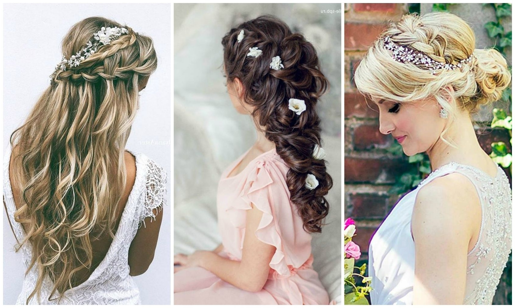 2017 Wedding Hairstyles For Bride And Bridesmaids Throughout Amazing Wedding Hairstyles U Top Hair Ideas For Brides Pic Medium (View 2 of 15)