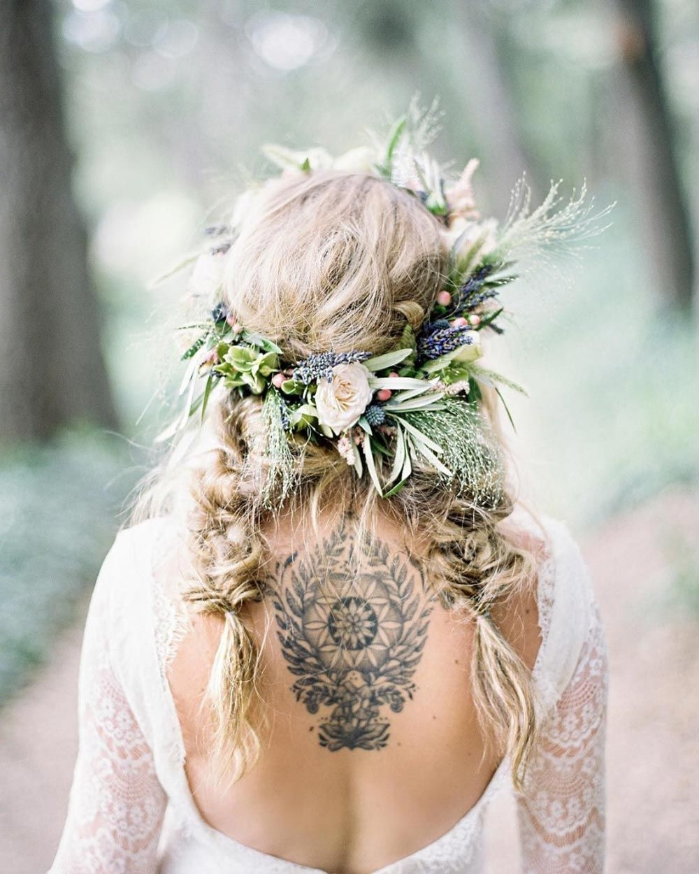 2017 Wedding Hairstyles For Long Boho Hair Inside 28 Braided Wedding Hairstyles For Brides With Long Hair (View 1 of 15)