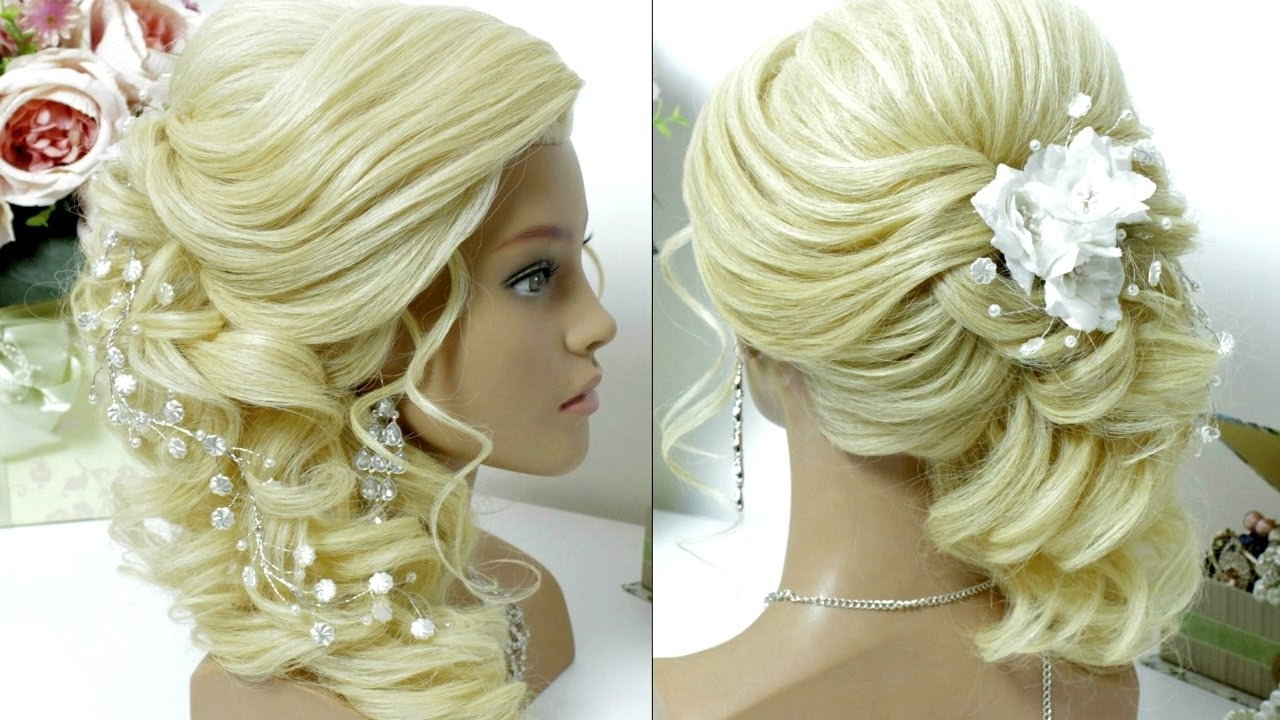 2017 Wedding Hairstyles For Long Hair To The Side Regarding Bridal Prom Hairstyle For Long Hair Tutorial (View 1 of 15)