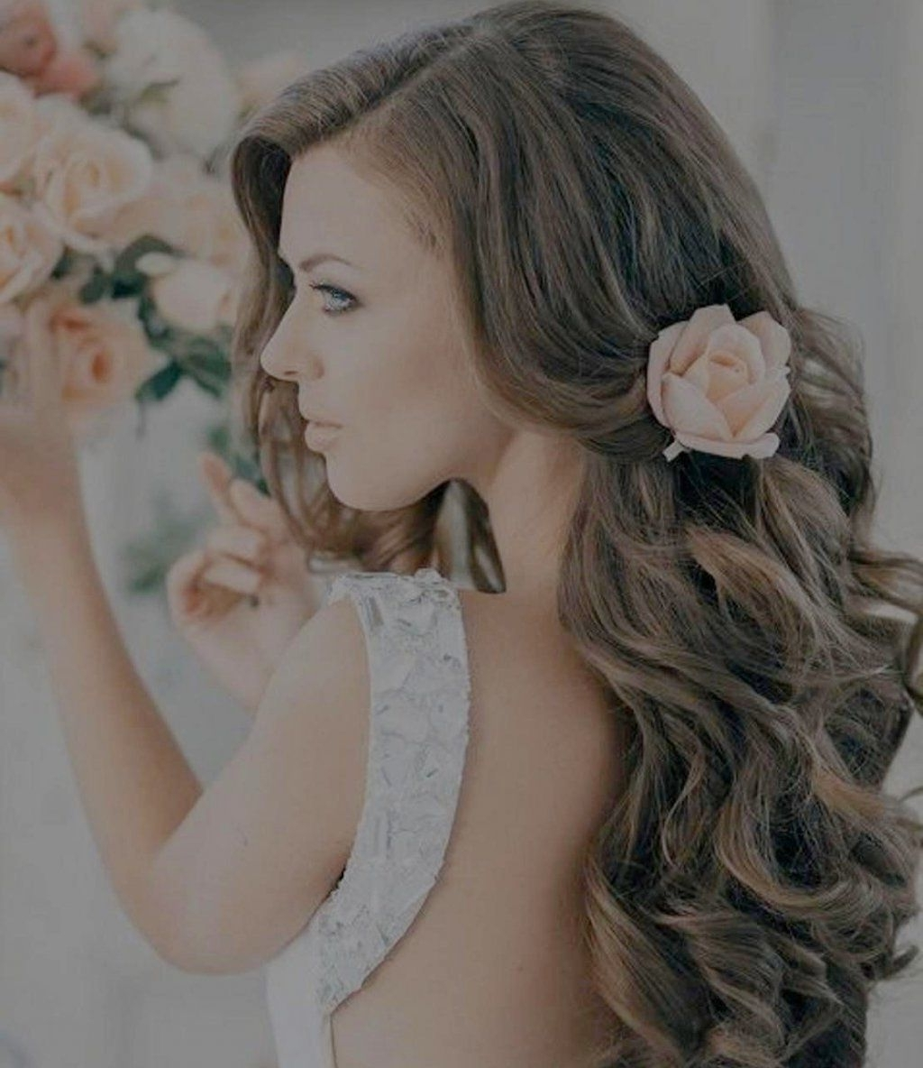 2017 Wedding Hairstyles For Long Hair Without Veil With Regard To √ 24+ Fresh Wedding Hairstyles For Long Hair Down: Wedding (View 2 of 15)