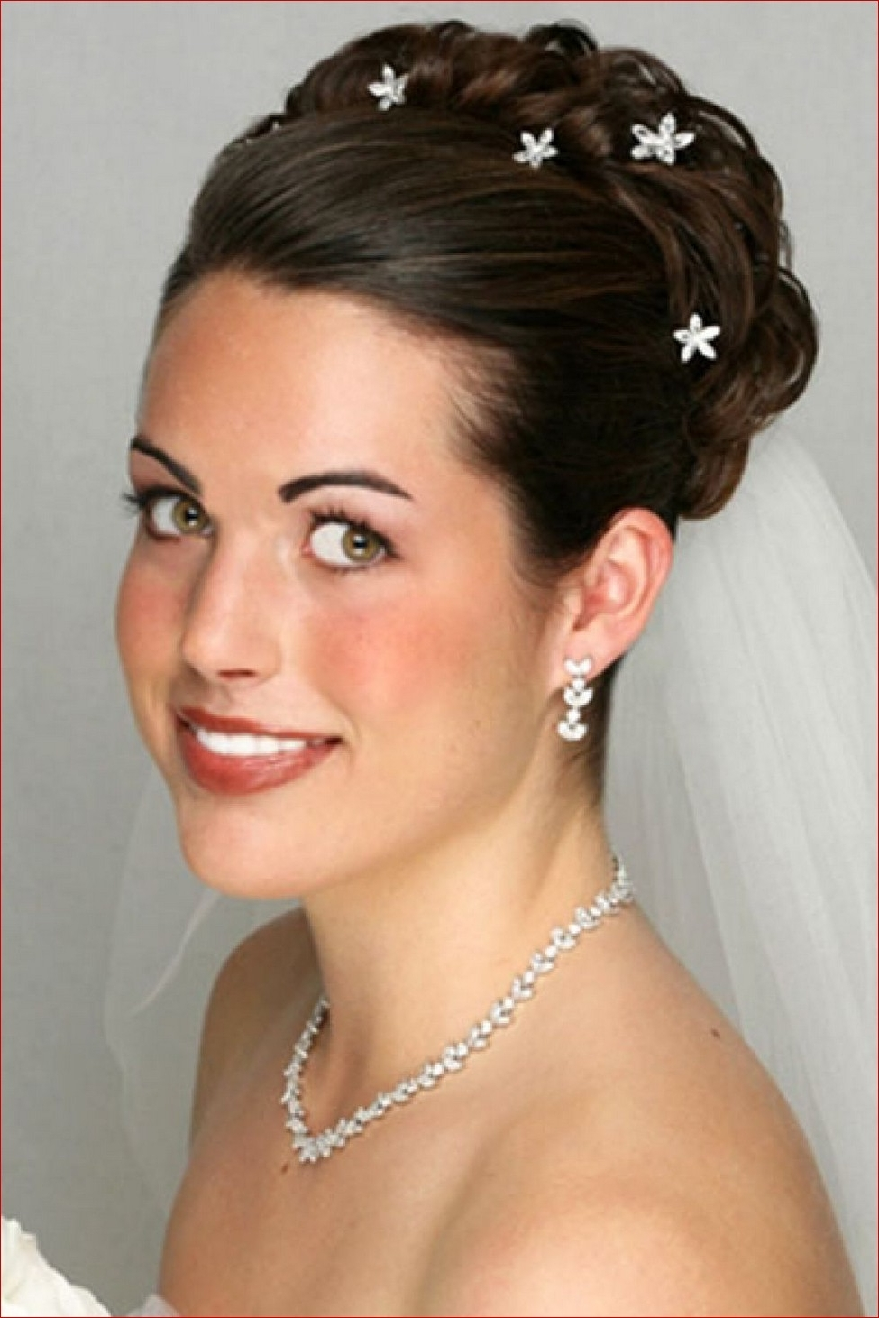 2017 Wedding Hairstyles For Shoulder Length Hair With Veil Within Best Wedding Hair Shoulder Length For Yournstagram Photos Hairstyles (View 1 of 15)
