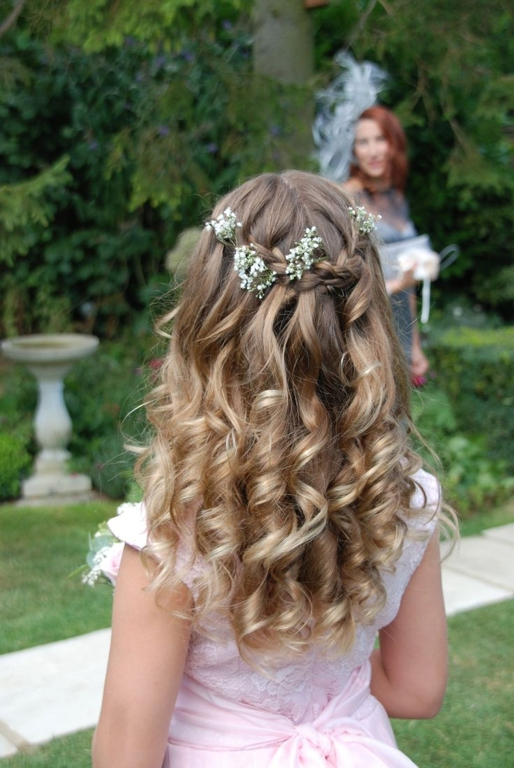 2017 Wedding Hairstyles For Young Bridesmaids In Wedding Hairstyles : Little Girl Hairstyles For Weddings Tutorial (View 15 of 15)