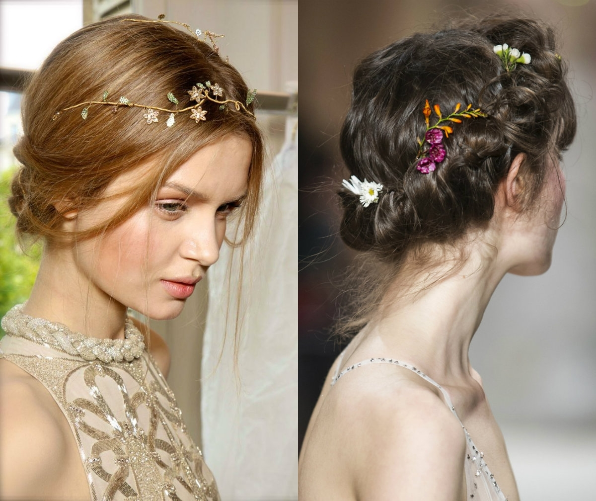 2017 Wedding Hairstyles With Jewels In Wedding Hairstyles & Accessories To Make You Look Like A Princess (View 2 of 15)