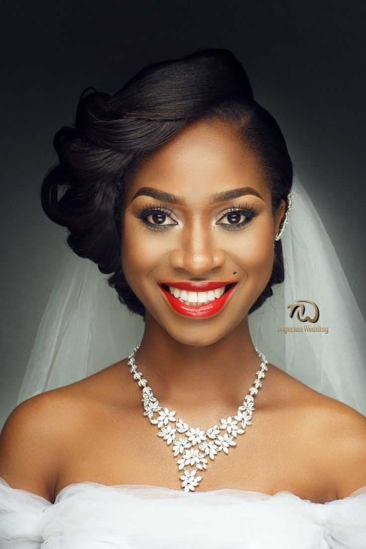 2017 Wedding Hairstyles With Weave Pertaining To Photo: Black Girl Wedding Weave Hairstyles Nigerian Wedding Presents (View 4 of 15)
