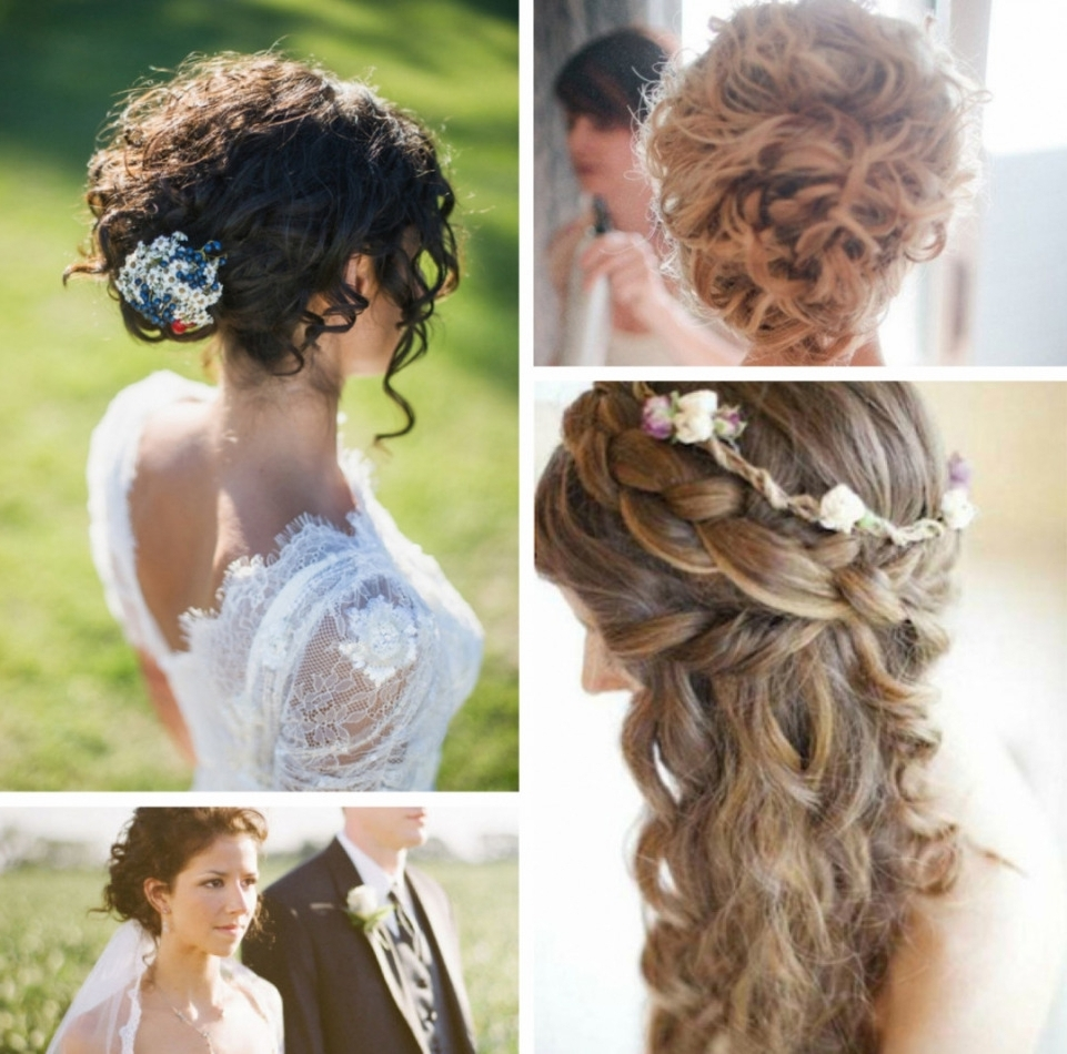 2018 Curly Wedding Hairstyles Pertaining To 18 Natural Curly Hair Wedding Styles, Curly Wedding Updo Hairstyles (View 7 of 15)