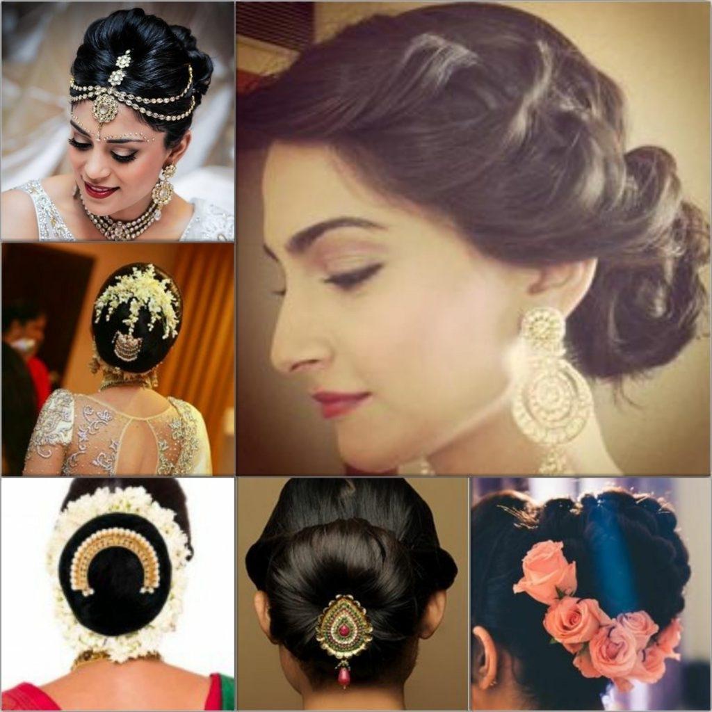 2018 Indian Bun Wedding Hairstyles Pertaining To Top 5 Hairstyles For An Indian Wedding (View 2 of 15)