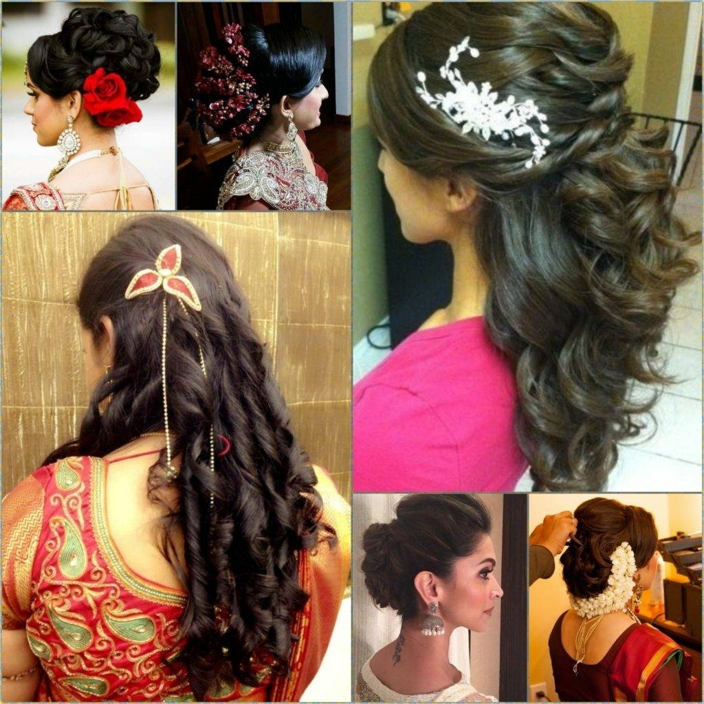 2018 Indian Wedding Hairstyles Within Indian Wedding Hairstyles Long Hair For Mid Stock Photos Hd Easy (View 2 of 15)