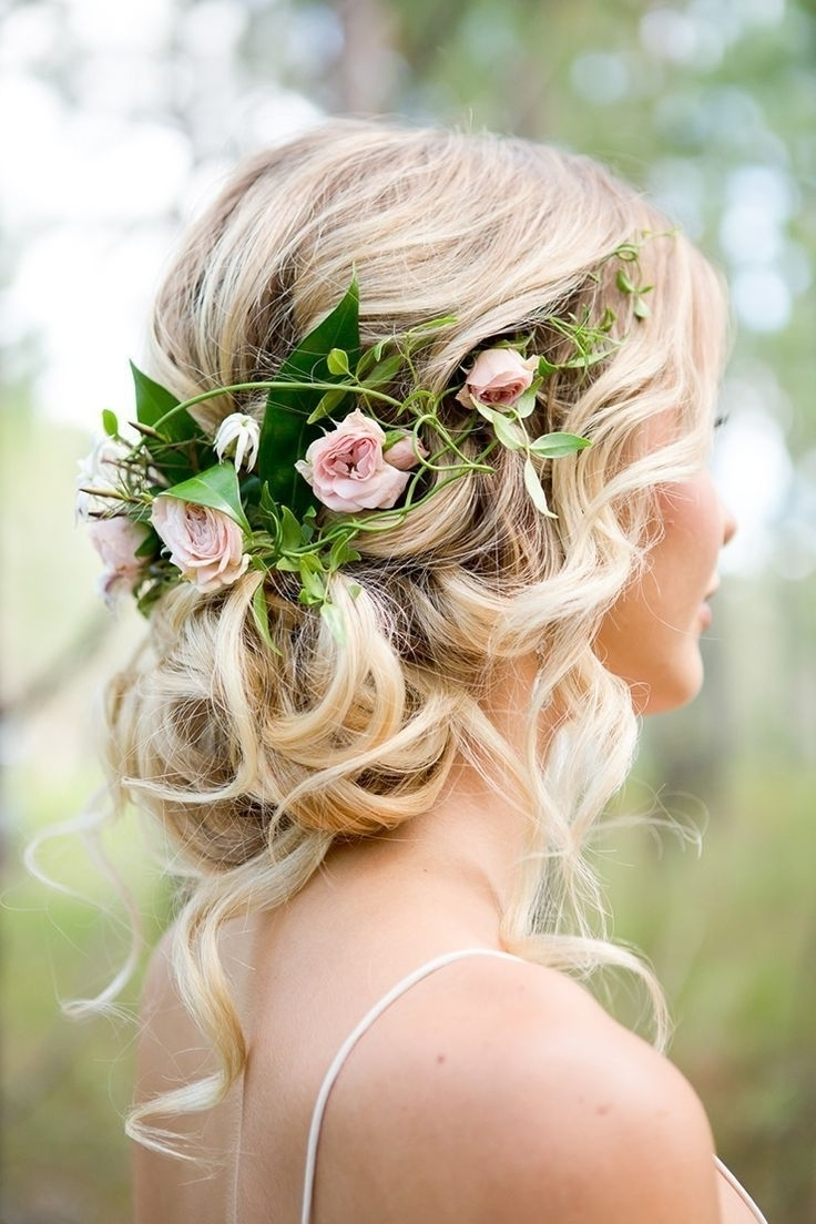 2018 Messy Wedding Hairstyles Inside Bridal Messy Updo Hairstyles (View 2 of 15)