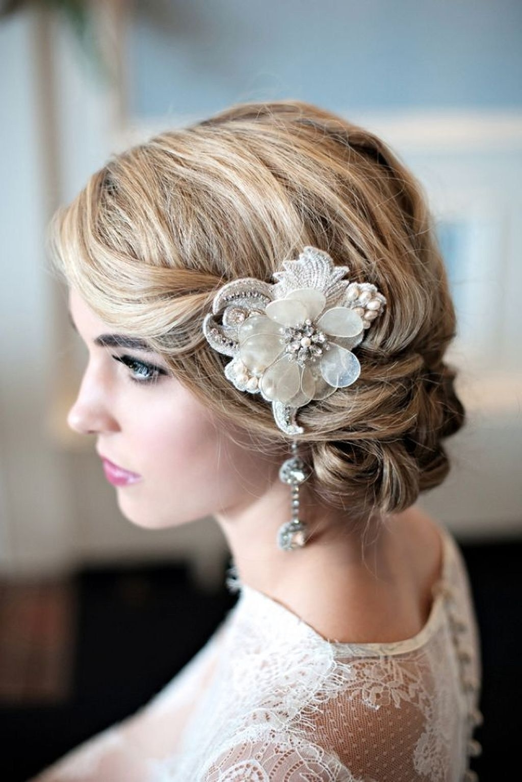2018 Vintage Wedding Hairstyles Throughout Most Beautiful Vintage Wedding Hairstyles Ideas (View 1 of 15)