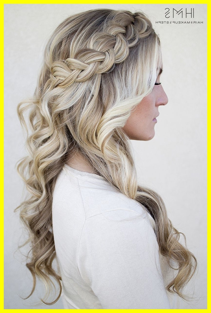 2018 Wedding Hairstyles Down With Braids Inside Inspiring One On Class Shoulder Length Hair And Bridal For Half Up (View 4 of 15)