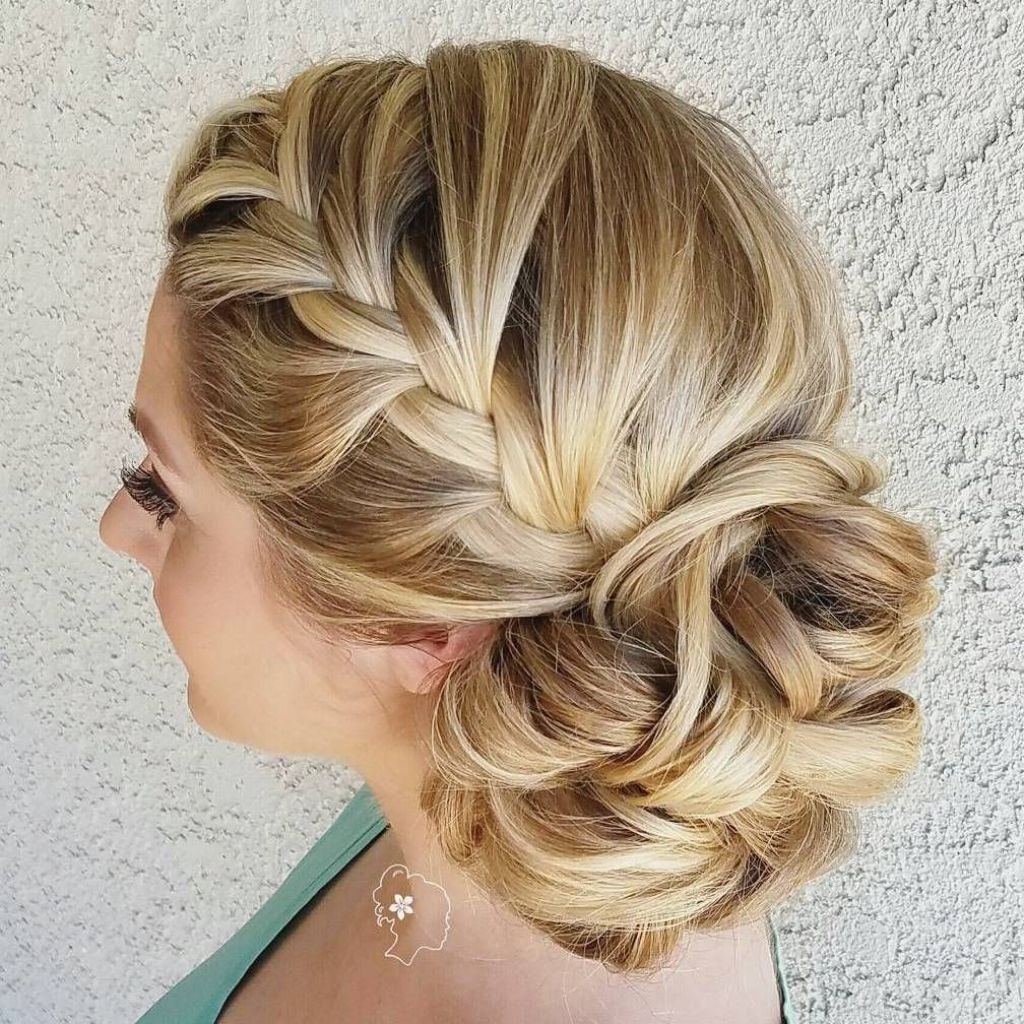 2018 Wedding Hairstyles For Bridesmaids Within √ 24+ Inspirational Wedding Hairstyles For Bridesmaids:  (View 2 of 15)