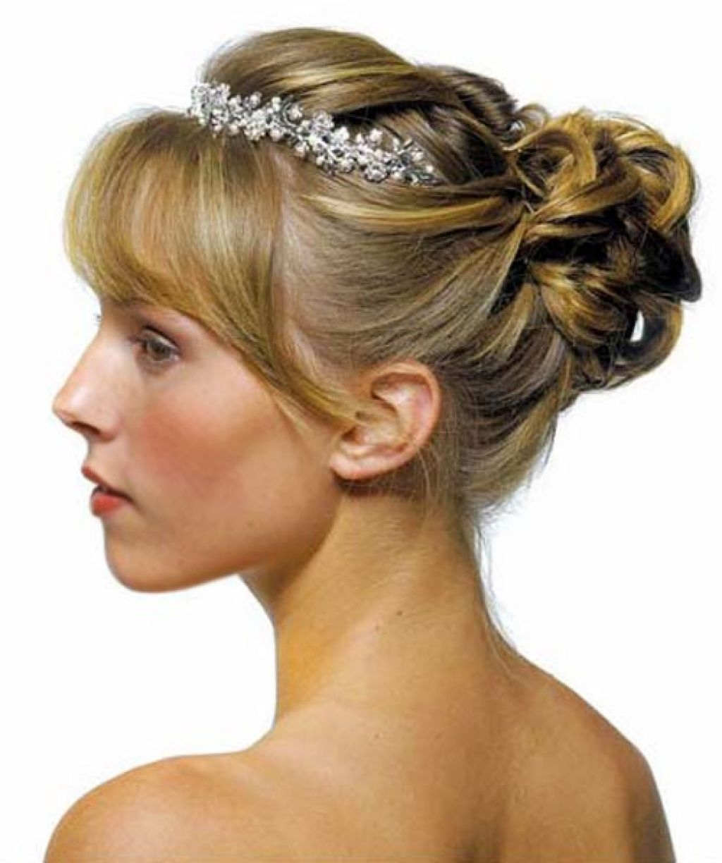 2018 Wedding Hairstyles For Medium Length Hair With Side Ponytail For Wedding Hairstyles Ideas: Side Ponytail Curly Low Updo Fancy Wedding (View 1 of 15)