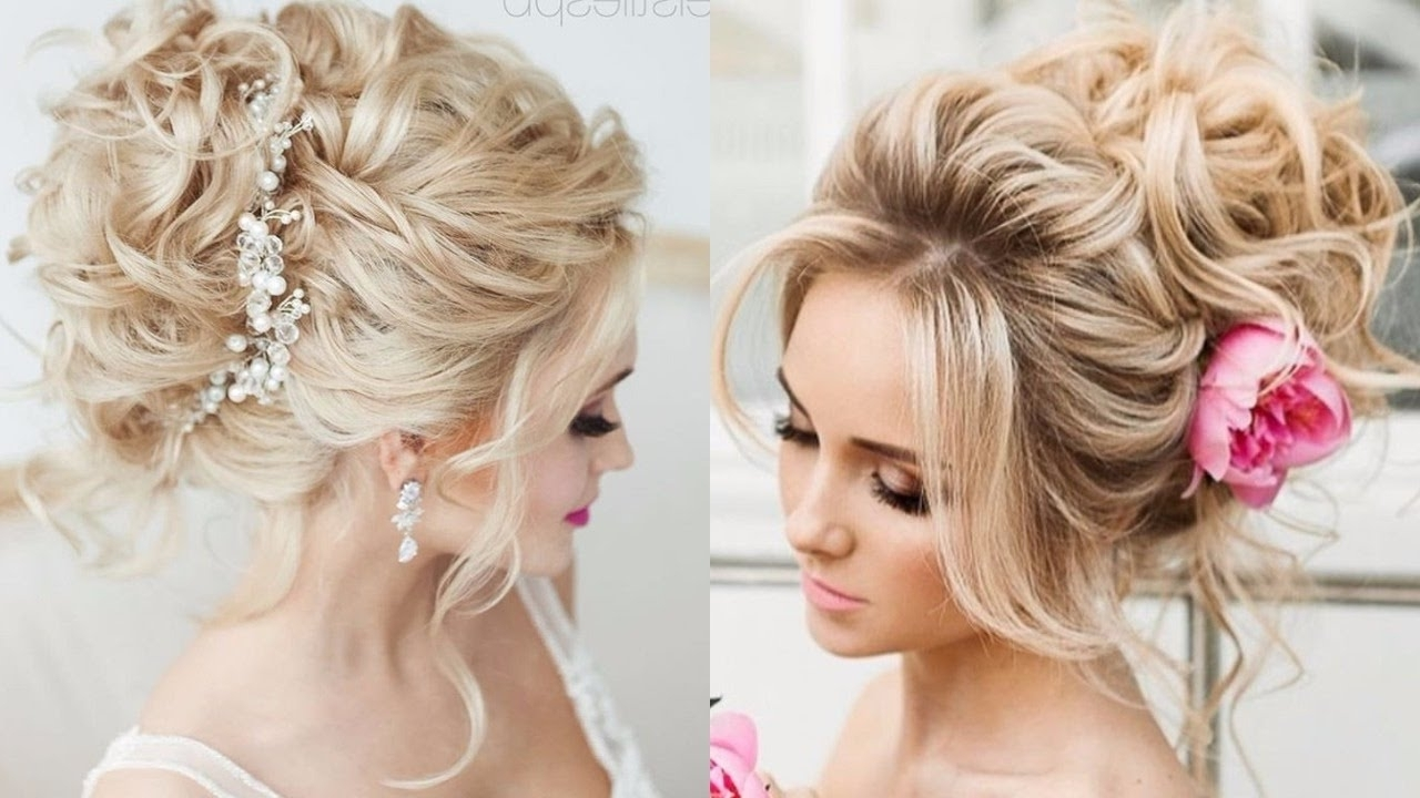 2018 Wedding Hairstyles For Medium Length With Blonde Hair Intended For Stunning Wedding Hairstyles Blonde Hair For Style And Ideas (View 2 of 15)