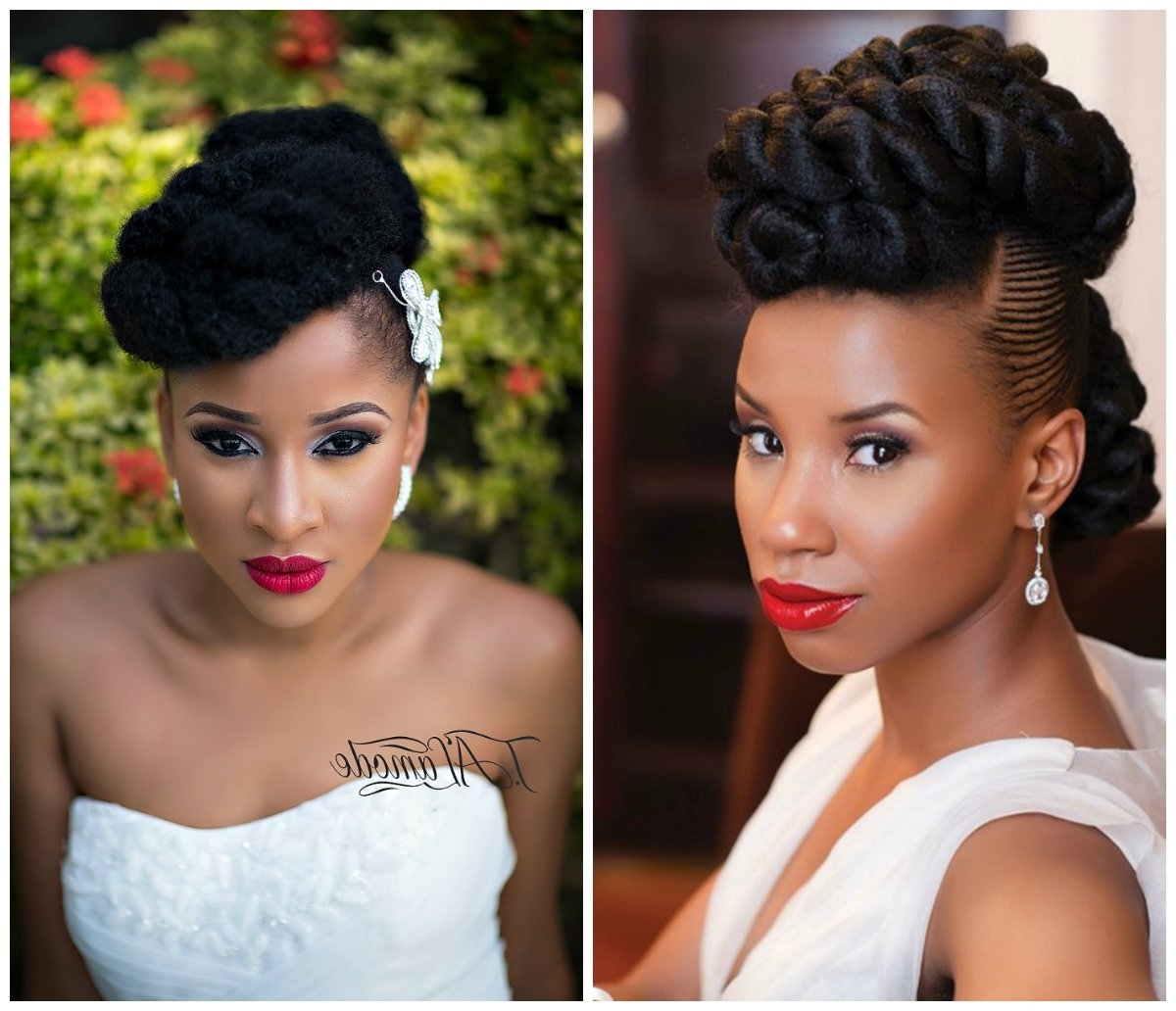 2018 Wedding Hairstyles For Nigerian Brides With Style: Trending Nigerian Bridal Hairstyles For The Perfect Bride (View 6 of 15)