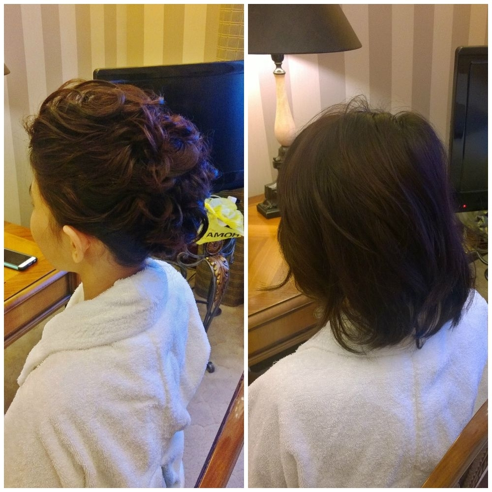 2018 Wedding Hairstyles For Short Hair With Extensions Throughout Short Hair Wedding Updo Without Hair Extensionsjanita Helova Www (View 1 of 15)