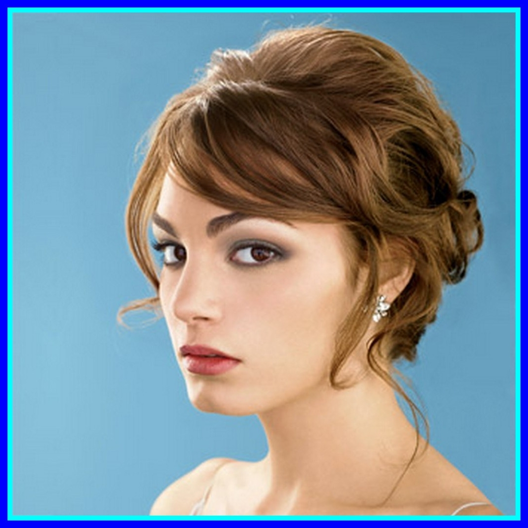 2018 Wedding Hairstyles For Short Hair With Fringe Inside Best Pretty Updo For Long Curly Hair With A Fringe If Looks Could (View 1 of 15)
