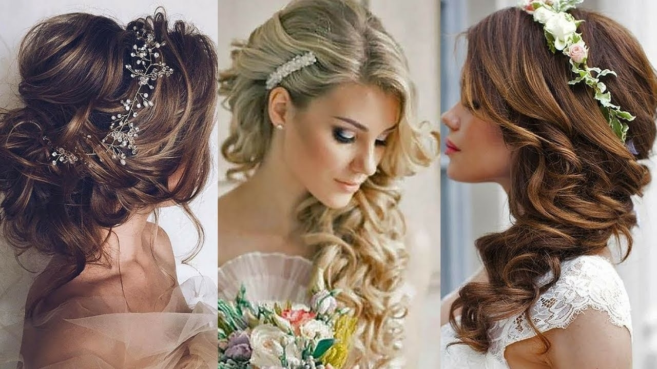 2018 Wedding Hairstyles & Glamorous Hair Ideas! – Youtube With Regard To Most Recently Released Wedding Hairstyles For Oval Face (View 5 of 15)