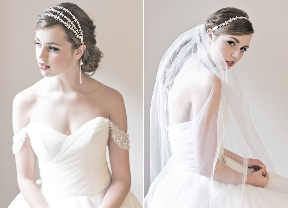 2018 Wedding Hairstyles With Headband And Veil Intended For Wedding Headband With Veil – Skyranreborn (View 13 of 15)