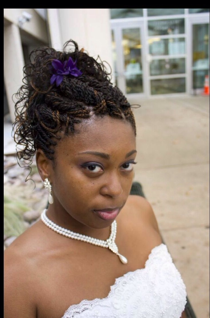 2018 Wedding Hairstyles With Kinky Twist With Regard To Wedding Updo. Senegalese Twists (View 2 of 15)