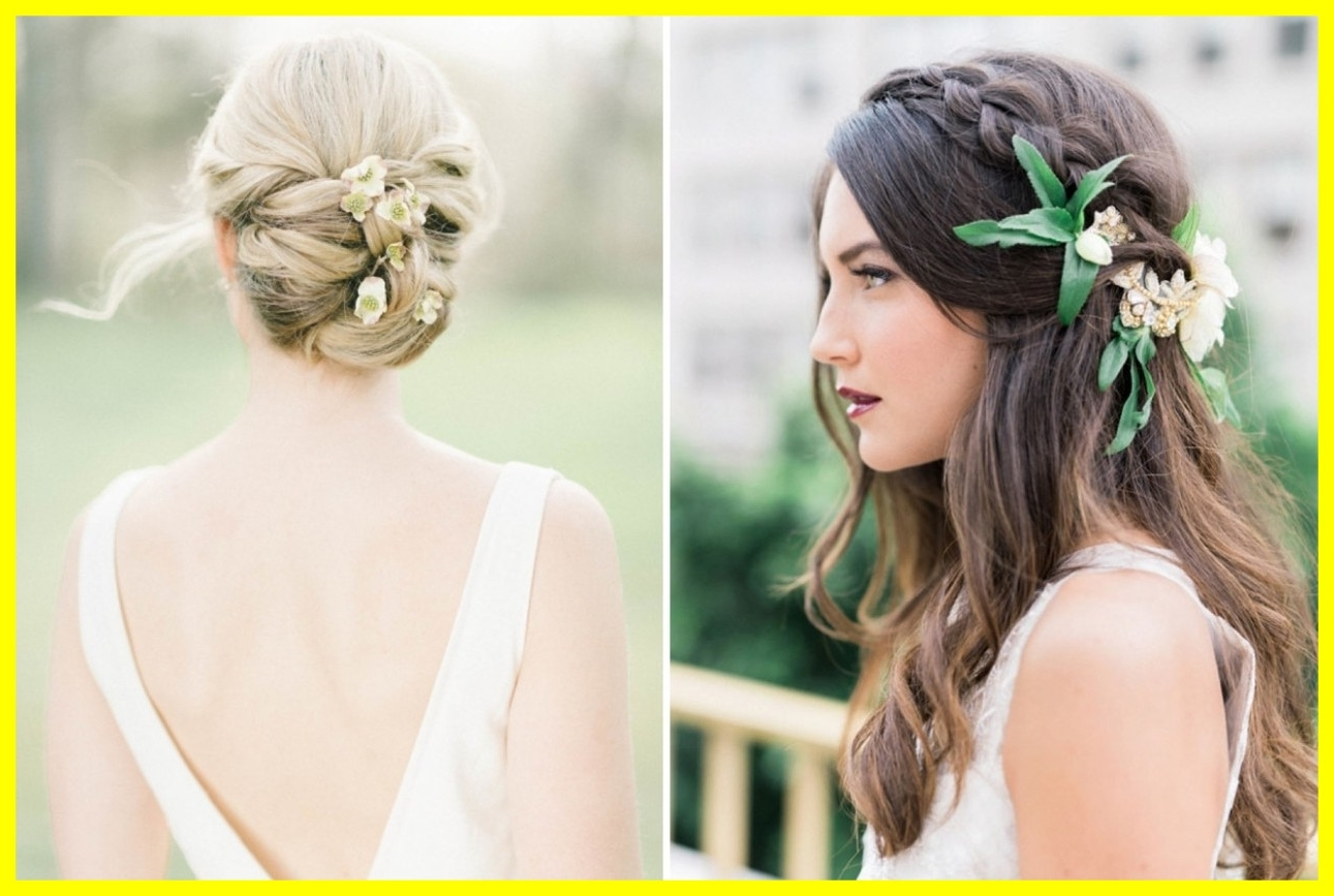 2018 Wedding Hairstyles With Veil And Flower Inside Appealing Wedding Hair With Flowers And Veil Bridal Hairstyles Real (View 8 of 15)