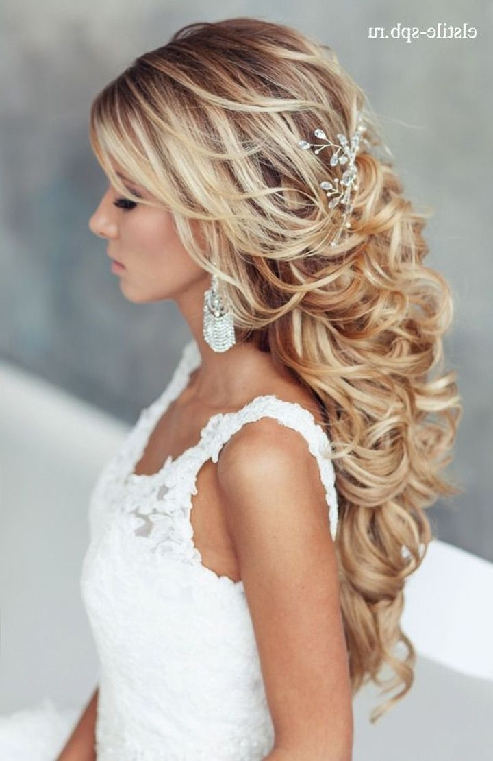 2018 Wedding Reception Hairstyles For Guests With Long Hairstyles For Wedding Bride Bridal Updo Half Updos For Long (View 7 of 15)