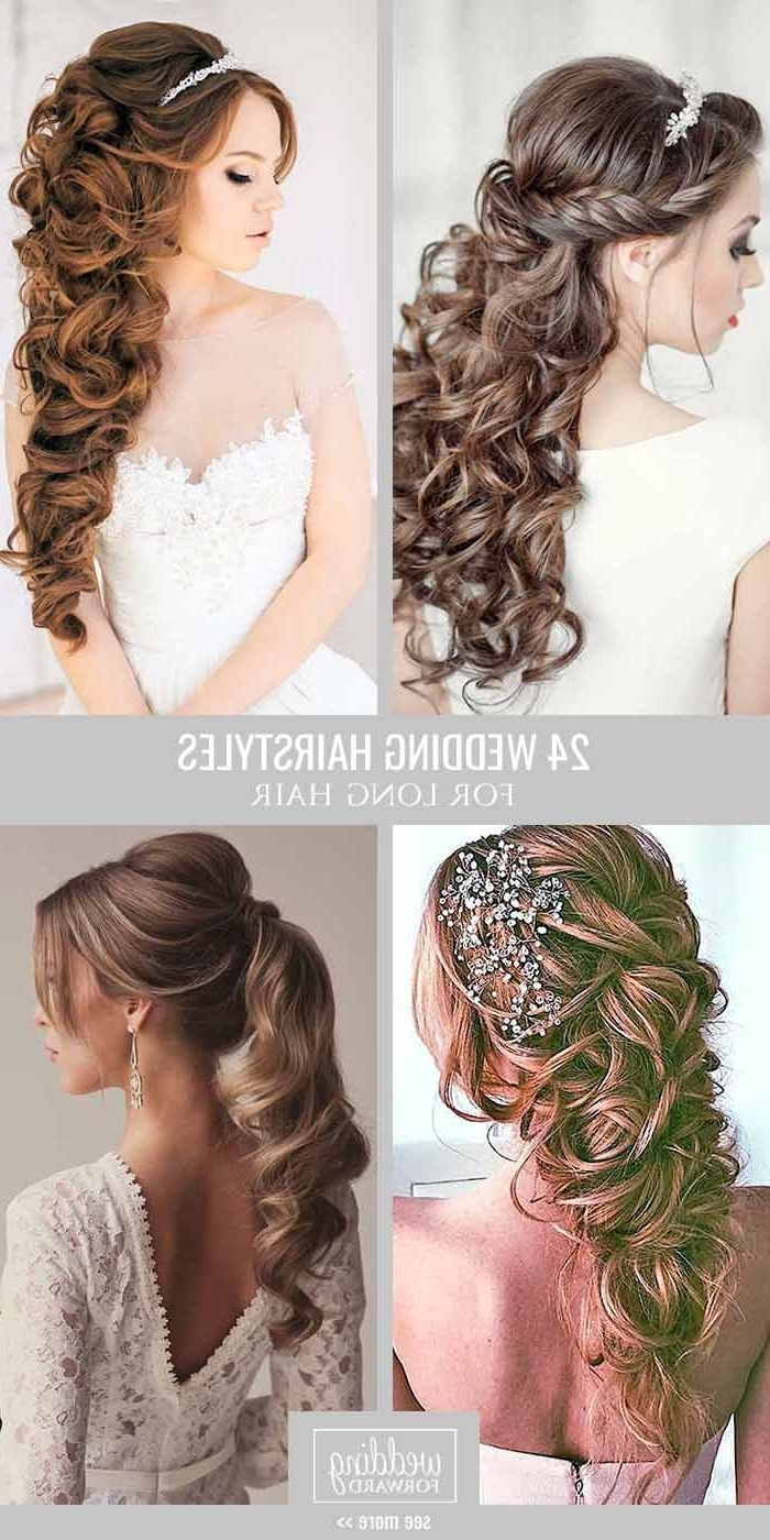 24 Bride's Favourite Wedding Hairstyles For Long Hair From Soft In Most Popular Wedding Hairstyles For Long Layered Hair (View 14 of 15)