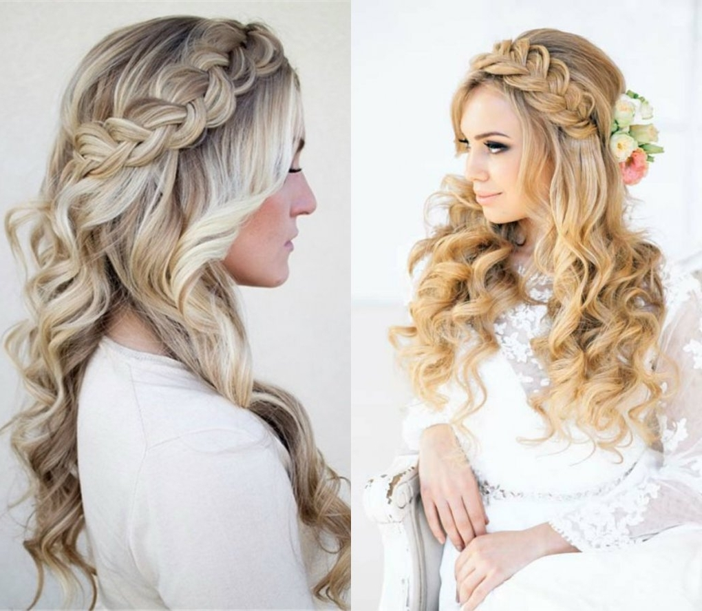 24 Wedding Hair Down With Braid, 30 Unique Wedding Hair Ideas You With Regard To 2018 Wedding Hairstyles Down With Braids (View 3 of 15)