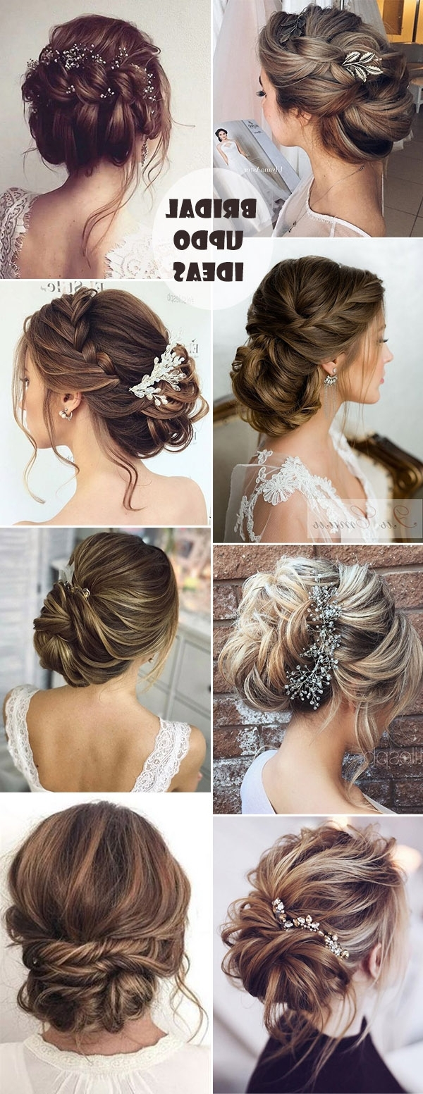 25 Drop Dead Bridal Updo Hairstyles Ideas For Any Wedding Venues For 2018 Wedding Hairstyles With Braids For Bridesmaids (View 15 of 15)