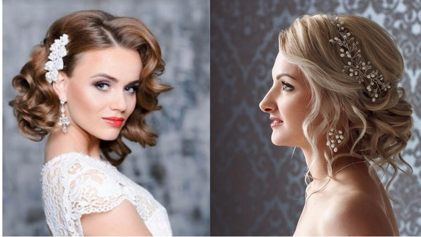 27 Gorgeous & Glam Wedding Hairstyles For Short Hairs – Top Trendy Inside Popular Short Wedding Hairstyles (View 2 of 15)