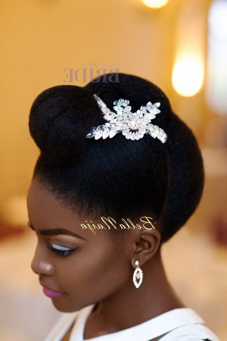 28 Best Natural Hair Bridal Inspiration Images On Pinterest With Regard To Well Liked Wedding Hairstyles With Jewelry (View 14 of 15)
