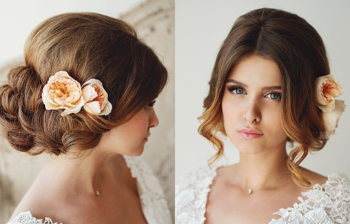 28 Prettiest Wedding Hairstyles – Modwedding With Regard To Best And Newest Classic Wedding Hairstyles For Short Hair (View 9 of 15)