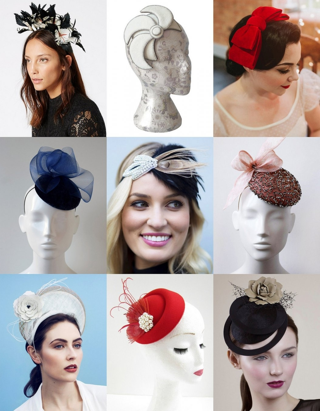 34 Modern Wedding Guest Hats And Fascinators #saturdaysharelinkup Within Trendy Wedding Guest Hairstyles For Long Hair With Fascinator (View 1 of 15)