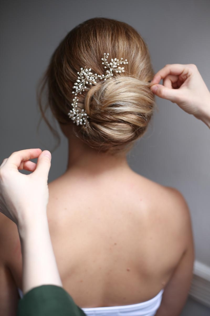 5 Absolutely Gorgeous Romantic Wedding Hairstyles – The Content Wolf Inside Most Up To Date Low Bun Wedding Hairstyles (View 2 of 15)