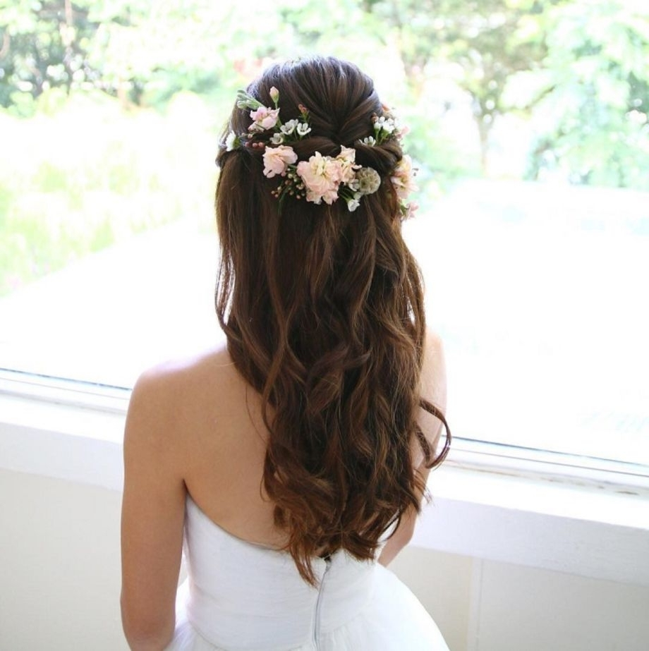 55 Beautiful Wedding Hairstyles Ideas With Bangs For Long Hair – Vis Wed With Regard To 2018 Wedding Hairstyles (Gallery 2 of 15)