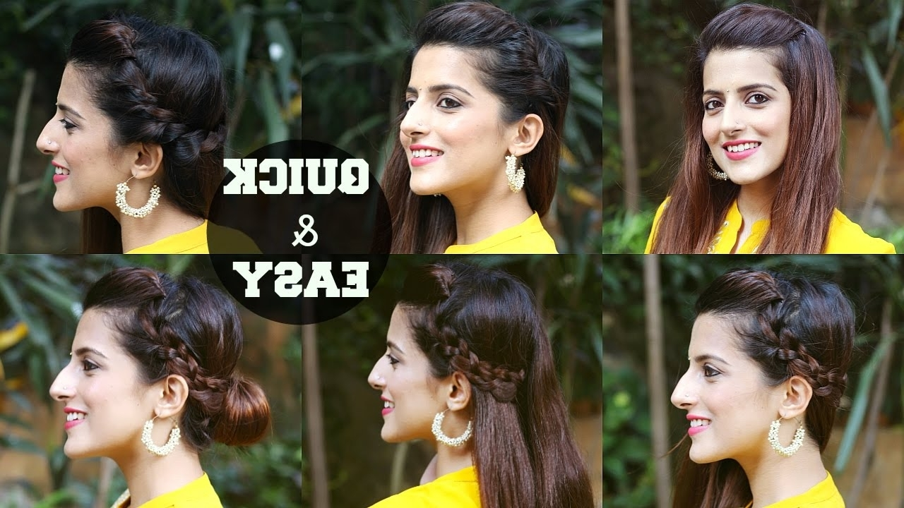 6 Quick & Easy Indian Hairstyles For Medium To Long Hair / Perfect With Recent Easy Indian Wedding Hairstyles For Medium Length Hair (View 5 of 15)